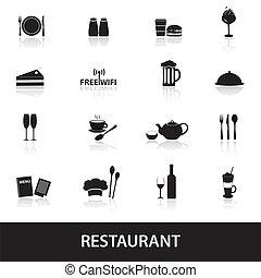 ristorante, eps10, pub, icone