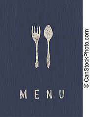 ristorante, formato, menu., a4, vector., elegante