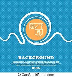 ristorante, icona, segno., blu bianco, astratto, fondo, chiazzato, con, spazio, per, testo, e, tuo, design., vettore