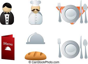 ristorante, icone