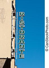 Ristorante Restaurant Sign in Italy