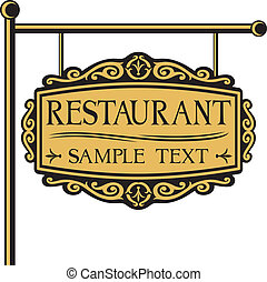 ristorante, segno