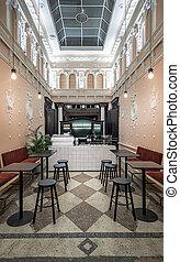 ristorante,  stucco, modanatura