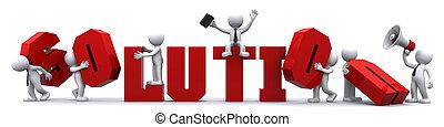 risultato, solution., concettuale, illustrazione affari