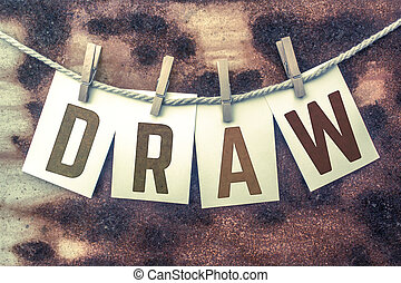 rita, begrepp, stampat, segelgarn, fastklämd, tema, kort