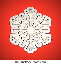 ritagliare, fiocco di neve, natale