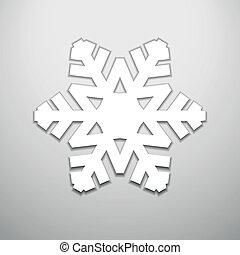 ritagliare, natale, fiocco di neve