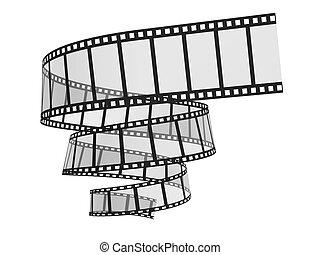 ritaglio, immagine, film, percorso, strip., 3d