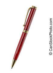 ritaglio, isolato, fondo, percorso, bianco, penna