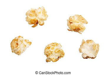 ritaglio, isolato, fondo, popcorn, percorso, bianco