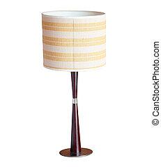 ritaglio, isolato, lampada, fondo, tavola, percorso, bianco