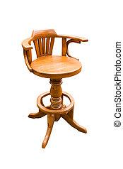 ritaglio, legno, bianco, isolato, papà, fondo, sedia, rotondo