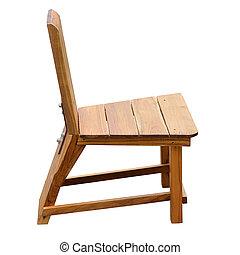 ritaglio, legno, isolato, fondo, sedia, percorso, bianco