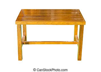 ritaglio, legno, isolato, tavola, percorso, bianco