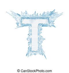 ritaglio, lettera, t.upper, ghiaccio, case.with, cristallo,...