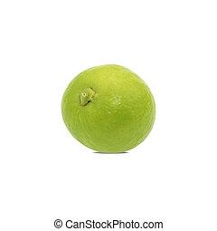 ritaglio, limone, isolato, fondo., percorso, bianco