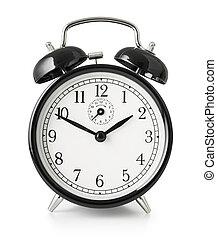 ritaglio, orologio, allarme, isolato, included, percorso