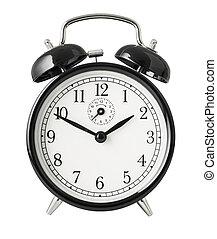 ritaglio, orologio, semplice, allarme, oggetto, isolato, included, percorso