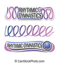 ritmico, astratto, vettore, ginnastica
