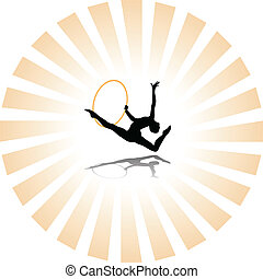ritmische gymnastiek, silhouette