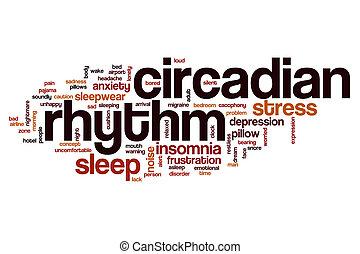 ritmo circadian, palavra, nuvem