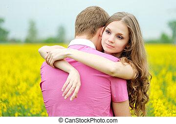 ritratto, coppia, amore