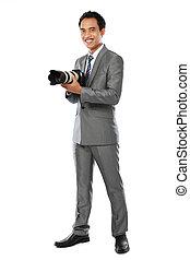 ritratto, di, fotografo