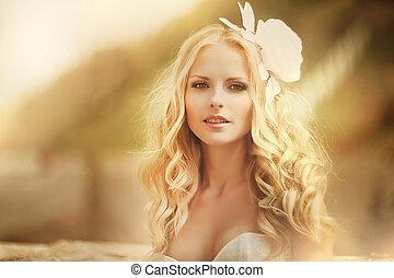 92c7c91e29 Bello, rosa, donna, incinta, bellezza, giovane, ritratto, gravidanza ...