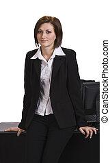 ritratto, di, uno, donna d'affari