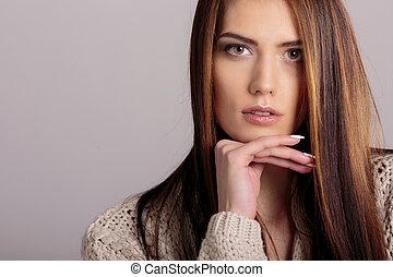 ritratto, donna, giovane