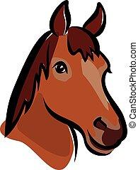 ritratto, felice, cavallo