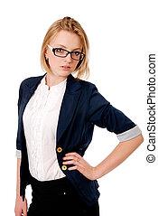 ritratto, glasses., donne affari