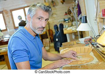 ritratto, lavoro, artigiano