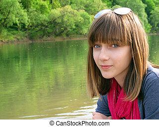 ritratto, ragazza adolescente
