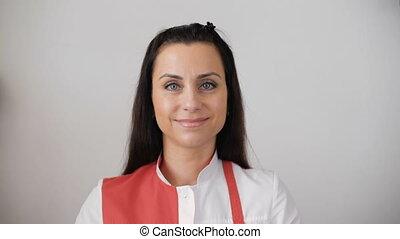 ritratto,  receptionist, femmina
