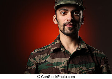 ritratto, soldato