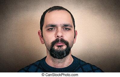 ritratto, uomo barbuto
