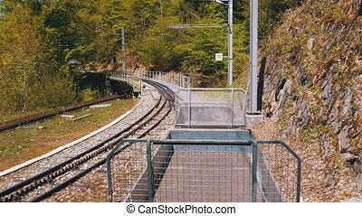 ritten, railway., trein, bergen, zwitserland, tandrad,...