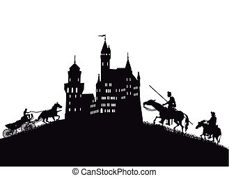 Ritter-Burg - Medieval castle, with knights and coach