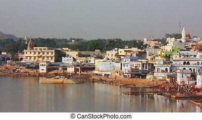 ritual bathing in holy lake - Pushkar India