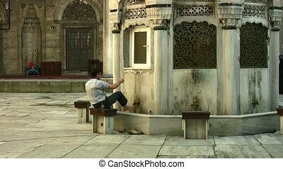 Ritual cleansing for muslim pray