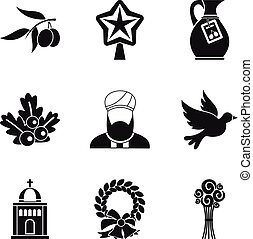 Ritual icons set, simple style - Ritual icons set. Simple...
