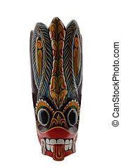 ritual tribal mask - Old-fashioned tribal ritual mask of...