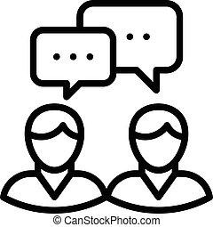 riunione, affari, icona