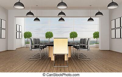 riunione, contemporaneo, stanza
