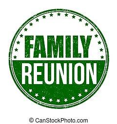riunione famiglia, segno, o, francobollo