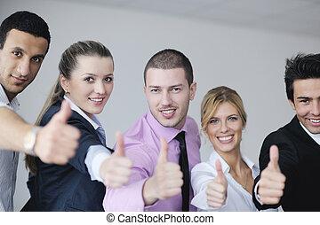 riunione, gruppo, persone affari