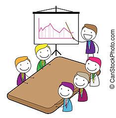 riunione, presentazione