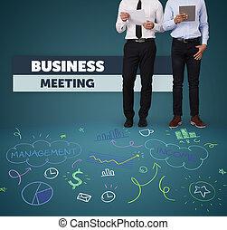 riunione, unrecognizable, persone affari