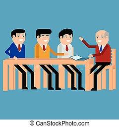 riunione, uomini affari